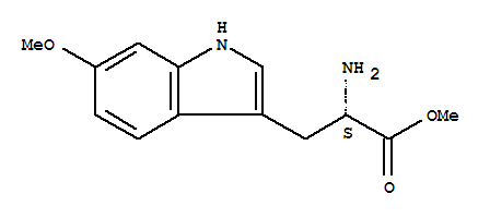 Molecular Structure of 107447-04-1 (L-Tryptophan,6-methoxy-, methyl ester)