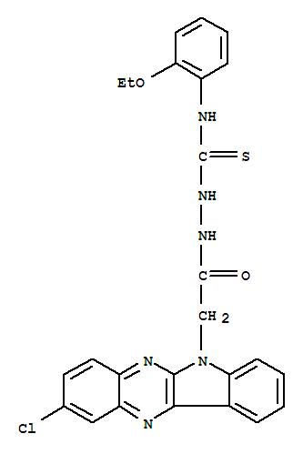 109322-14-7,6H-Indolo[2,3-b]quinoxaline-6-aceticacid, 2-chloro-, 2-[[(2-ethoxyphenyl)amino]thioxomethyl]hydrazide,
