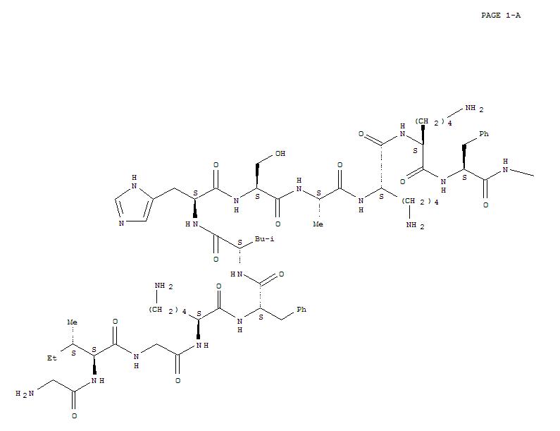 114317-44-1,MagaininI, 10-L-lysine-22-L-asparagine-23-L-serinamide-,MagaininII, 23-L-serinamide- (9CI); MSI 500; Magainin 2 amide; Magainin II amide