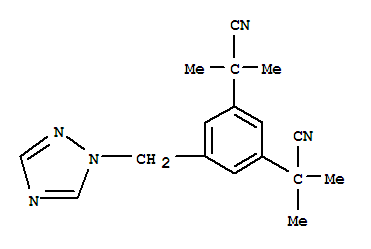 Molecular Structure of 120511-73-1 (1,3-Benzenediacetonitrile, &alpha;<sup>1</sup>,&alpha;<sup>1</sup>,&alpha;<sup>3</sup>,&alpha;<sup>3</sup>-tetramethyl-5-(1H-1,2,4-triazol-1-ylmethyl)-)
