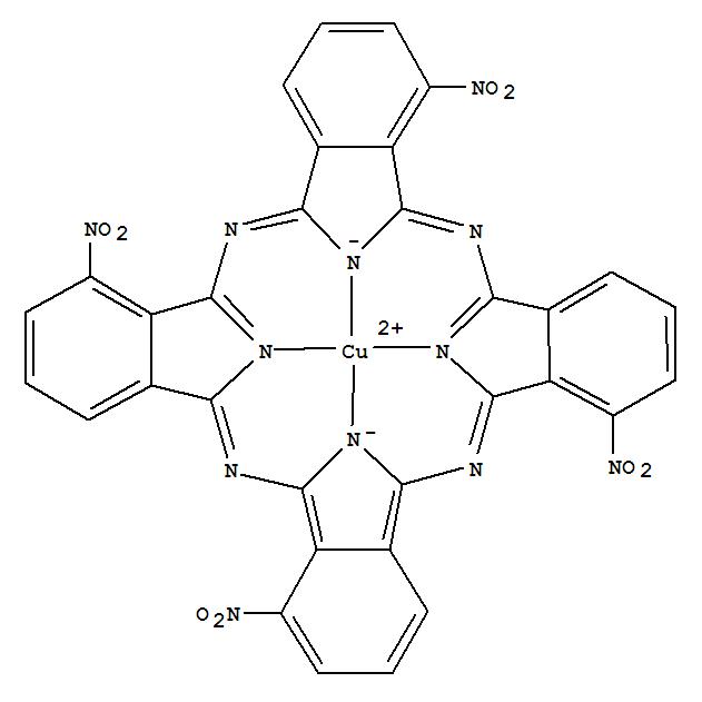 CAS NO:121189-61-5 Copper,[1,8,15,22-tetranitro-29H,31H-phthalocyaninato(2-)-kN29,kN30,kN31,kN32]-,(SP-4-1)- (9CI) Molecular Structure