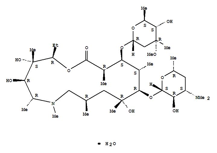 Azithromycin monohydrate structure