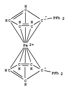 Molecular Structure of 12150-46-8 (1,1'-Bis(diphenylphosphino)ferrocene)