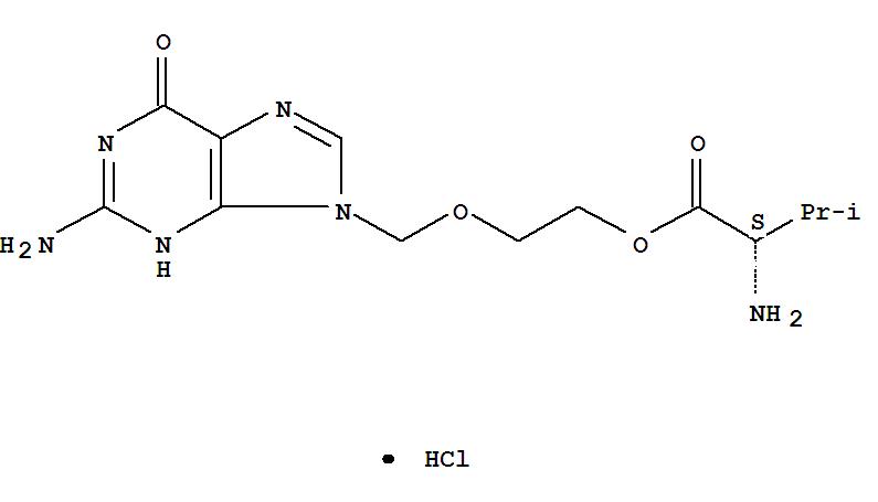 Molecular Structure of 124832-27-5 (Valacyclovir hydrochloride)