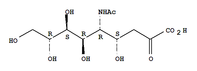 Molecular Structure of 131-48-6 (N-Acetylneuraminic acid)