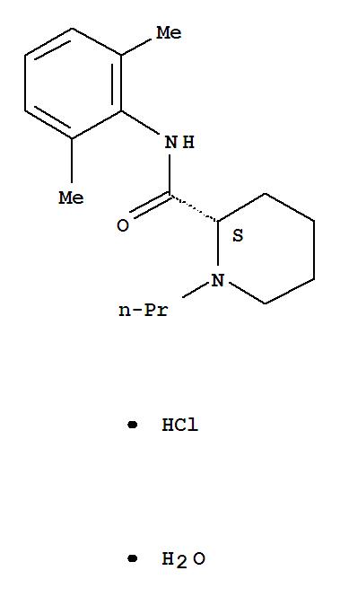 Molecular Structure of 132112-35-7 (Ropivacaine hydrochloride)
