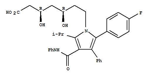 Molecular Structure of 134523-00-5 (Atorvastatin)