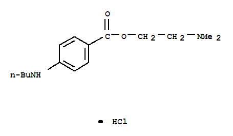 136-47-0,Benzoicacid, 4-(butylamino)-, 2-(dimethylamino)ethyl ester, hydrochloride (1:1),Benzoic acid, p-(butylamino)-, 2-(dimethylamino)ethyl ester, monohydrochloride(8CI);2-(Dimethylamino)ethyl p-(butylamino)benzoate hydrochloride;Amethocainehydrochloride;Amethocaine monohydrochloride;Anethain;Anethaine;Dianguang;Pantocaine;Pantocaine monohydrochloride;Pontocainehydrochloride;p-(Butylamino)benzoic acid 2-(dimethylamino)ethyl ester hydrochloride;Tetracaine Hydrochloride;Tetracaine HCL;