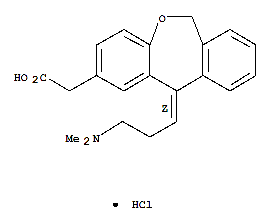 Molecular Structure of 140462-76-6 (Olopatadine hydrochloride)