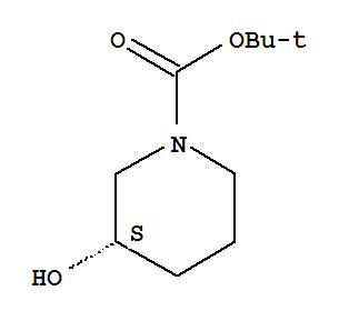 143900-44-1,1-Piperidinecarboxylicacid, 3-hydroxy-, 1,1-dimethylethyl ester, (3S)-,1-Piperidinecarboxylicacid, 3-hydroxy-, 1,1-dimethylethyl ester, (S)-;(S)-3-Hydroxypiperidine-1-carboxylic acid tert-butyl ester;(S)-N-Boc-3-hydroxypiperidine;1,1-Dimethylethyl(3S)-3-hydroxy-1-piperidinecarboxylate;1-Boc-(3S)-3-hydroxypiperidine;