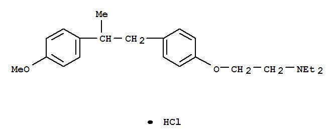 15624-33-6,Ethanamine,N,N-diethyl-2-[4-[2-(4-methoxyphenyl)propyl]phenoxy]-, hydrochloride (1:1),Triethylamine,2-[p-(p-methoxy-b-methylphenethyl)phenoxy]-, hydrochloride (8CI)