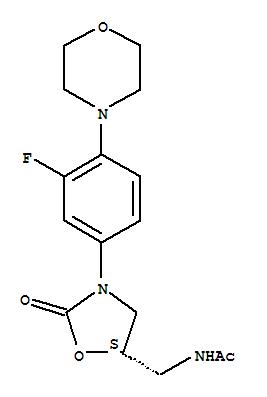 Molecular Structure of 165800-03-3 (Acetamide,N-[[(5S)-3-[3-fluoro-4-(4-morpholinyl)phenyl]-2-oxo-5-oxazolidinyl]methyl]-)