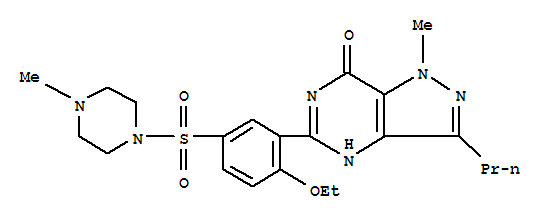Chemical structure of viagra