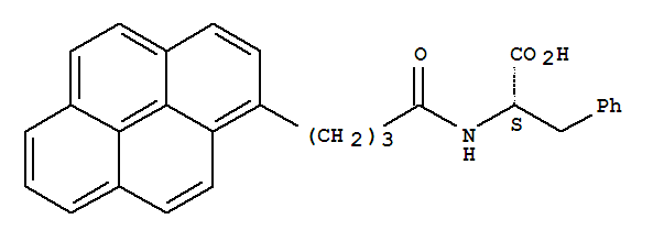 Molecular Structure of 199612-75-4 (L-Phenylalanine,N-[1-oxo-4-(1-pyrenyl)butyl]-)