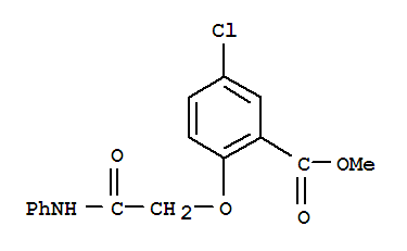 Molecular Structure of 20745-69-1 (Benzoicacid, 5-chloro-2-[2-oxo-2-(phenylamino)ethoxy]-, methyl ester)