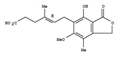 CAS NO:24280-93-1 Mycophenolic acid Molecular Structure