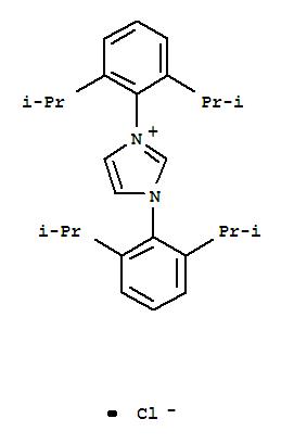 Molecular Structure of 250285-32-6 (1,3-Bis(2,6-diisopropylphenyl)imidazolium chloride)