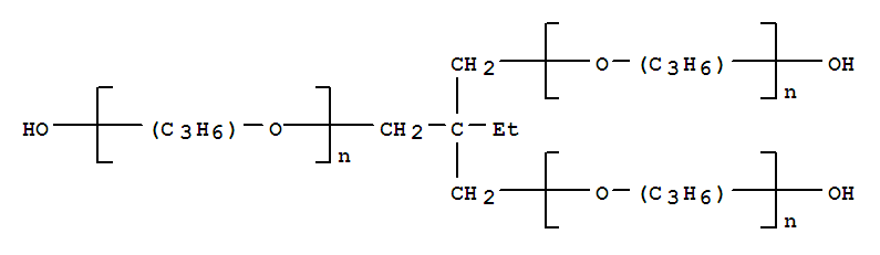 Poly[oxy(methyl-1,2-ethanediyl)],a-hydro-w-hydroxy-, ether with2-ethyl-2-(hydroxymethyl)-1,3-propanediol (3:1)