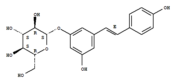 Molecular Structure of 27208-80-6 (Polydatin)