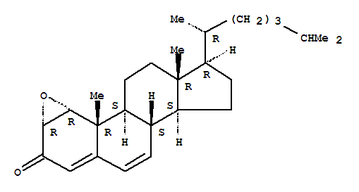 Molecular Structure of 28893-44-9 (Cholesta-4,6-dien-3-one,1,2-epoxy-, (1a,2a)-)