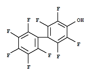 Molecular Structure of 2894-87-3 ([1,1'-Biphenyl]-4-ol,2,2',3,3',4',5,5',6,6'-nonafluoro-)