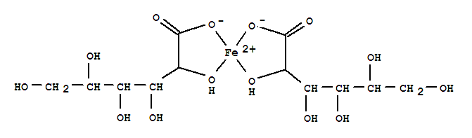 Molecular Structure of 299-29-6 (Ferrous gluconate)