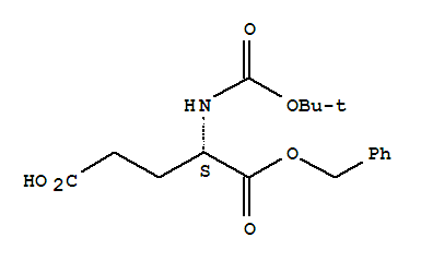 Molecular Structure of 30924-93-7 (L-Glutamicacid, N-[(1,1-dimethylethoxy)carbonyl]-, 1-(phenylmethyl) ester)