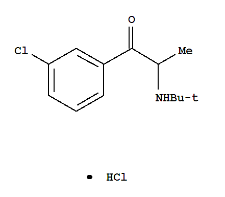 Molecular Structure of 31677-93-7 (Bupropion hydrochloride)