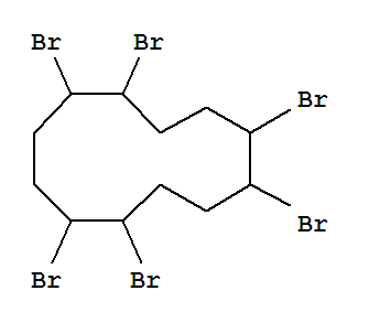 Molecular Structure of 3194-55-6 (1,2,5,6,9,10-Hexabromocyclododecane)