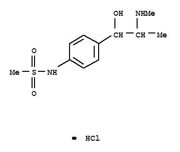 Molecular Structure of 955-48-6 (Methanesulfonamide,N-[4-[1-hydroxy-2-(methylamino)propyl]phenyl]-, hydrochloride (1:1))