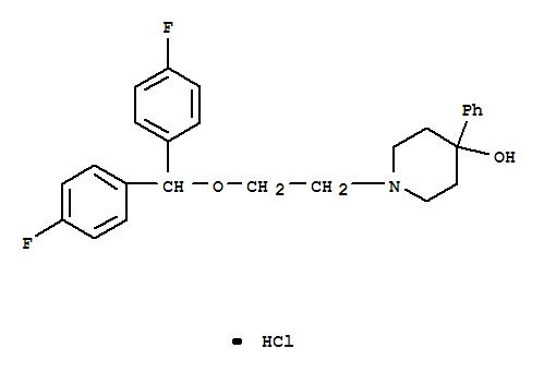 96122-79-1,4-Piperidinol,1-[2-[bis(4-fluorophenyl)methoxy]ethyl]-4-phenyl-, hydrochloride (1:1),4-Piperidinol,1-[2-[bis(4-fluorophenyl)methoxy]ethyl]-4-phenyl-, hydrochloride (9CI)