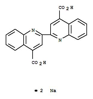 Molecular Structure of 979-88-4 (2,2'-Biquinoline-4,4-dicarboxylic acid disodium salt)