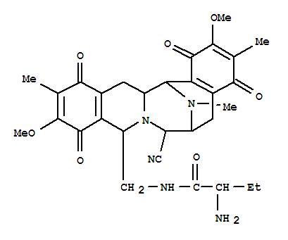 98205-63-1,Butanamide,2-amino-N-[[(6R,7R,9R,14aS,15S)-7-cyano-1,5,6,7,9,10,13,14,14a,15-decahydro-2,11-dimethoxy-3,12,16-trimethyl-1,4,10,13-tetraoxo-6,15-imino-4H-isoquino[3,2-b][3]benzazocin-9-yl]methyl]-,Butanamide,2-amino-N-[(7-cyano-1,5,6,7,9,10,13,14,14a,15-decahydro-2,11-dimethoxy-3,12,16-trimethyl-1,4,10,13-tetraoxo-6,15-imino-4H-isoquino[3,2-b][3]benzazocin-9-yl)methyl]-,[6R-(6a,7a,9b,14aa,15a)]-; Saframycin Yd 1