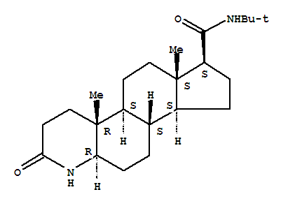 Molecular Structure of 98319-24-5 (1H-Indeno[5,4-f]quinoline-7-carboxamide,N-(1,1-dimethylethyl)hexadecahydro-4a,6a-dimethyl-2-oxo-,(4aR,4bS,6aS,7S,9aS,9bS,11aR)-)