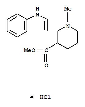 3284-33-1,3-Piperidinecarboxylicacid, 2-(1H-indol-3-yl)-1-methyl-, methyl ester, hydrochloride (1:1),Nipecotic acid, 2-indol-3-yl-1-methyl-, methyl ester,hydrochloride (7CI,8CI); NSC 118831