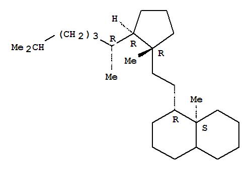34660-24-7,Naphthalene,1-[2-[(1R,2R)-2-[(1R)-1,5-dimethylhexyl]-1-methylcyclopentyl]ethyl]decahydro-8a-methyl-, (1R,8aS)-,8,14-Secocholestane(8CI); Naphthalene,1-[2-[2-(1,5-dimethylhexyl)-1-methylcyclopentyl]ethyl]decahydro-8a-methyl-, [1R[1R,2R(R)],8aS]-[partial]-;[1R-[1a[1R*,2R*(R*)],8aa]]-1-[2-[2-(1,5-Dimethylhexyl)-1-methylcyclopentyl]ethyl]decahydro-8a-methylnaphthalene