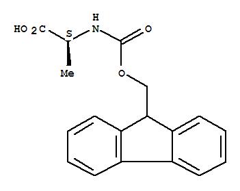 CAS NO:35661-39-3 L-Alanine,N-[(9H-fluoren-9-ylmethoxy)carbonyl]- Molecular Structure