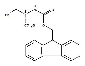 Molecular Structure of 35661-40-6 (L-Phenylalanine,N-[(9H-fluoren-9-ylmethoxy)carbonyl]-)