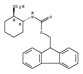 Molecular Structure of 381241-08-3 (Cyclohexanecarboxylicacid, 2-[[(9H-fluoren-9-ylmethoxy)carbonyl]amino]-, (1R,2R)-rel-)