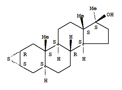 Molecular Structure of 4267-80-5 (Androstan-17-ol,2,3-epithio-17-methyl-, (2a,3a,5a,17b)-)