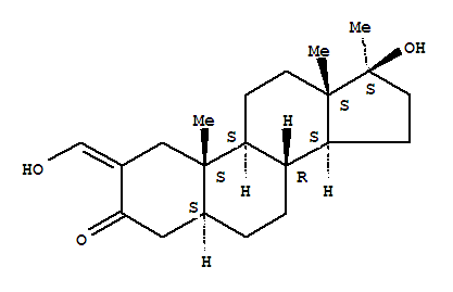 Molecular Structure of 434-07-1 (Oxymetholone)