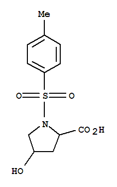 Molecular Structure of 454473-66-6 (Proline, 4-hydroxy-1-[(4-methylphenyl)sulfonyl]-)
