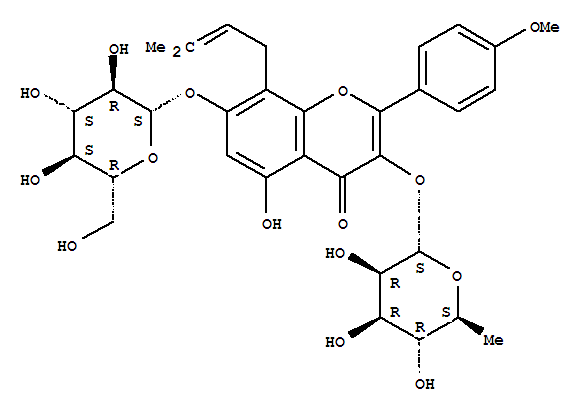 Molecular Structure of 489-32-7 (Icariin)