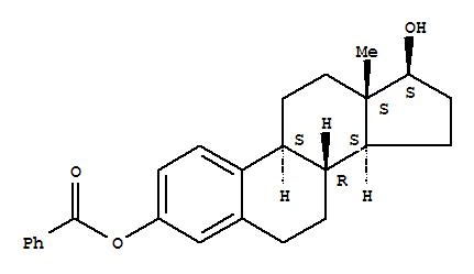 50-50-0,Estra-1,3,5(10)-triene-3,17-diol(17b)-, 3-benzoate,Estradiol,3-benzoate (8CI);1,3,5(10)-Estratriene-3,17b-diol 3-benzoate;17b-Estradiol3-benzoate;17b-Estradiol benzoate;Agofollin Depot;Benzhormovarine;Benzoestrofol;De Graafina;Diffollisterol;Dimenformon benzoate;Eston B;Estradiol benzoate;Estrogin;Femestrone;Graafina;Gynformone;Hormogynon;Ovasterol B;Ovocyclin Benzoate;Ovocyclin M;Pelanin benzoate;Primogyn B;Progynonbenzoate;Solestro;