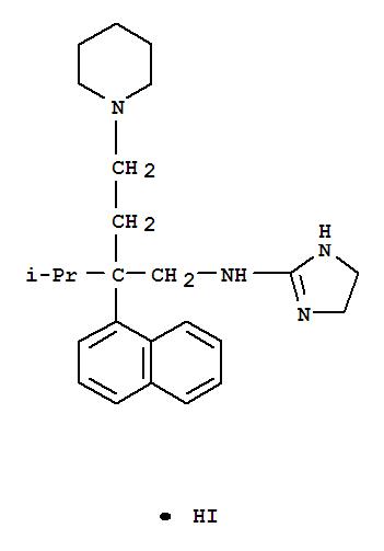 51125-90-7,1-Piperidinebutanamine,N-(4,5-dihydro-1H-imidazol-2-yl)-b-(1-methylethyl)-b-1-naphthalenyl-,hydriodide (1:1),1-Piperidinebutanamine,N-(4,5-dihydro-1H-imidazol-2-yl)-b-(1-methylethyl)-b-1-naphthalenyl-,monohydriodide (9CI); NSC 181967