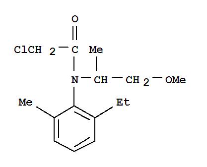 CAS NO:51218-45-2 Acetamide,2-chloro-N-(2-ethyl-6-methylphenyl)-N-(2-methoxy-1-methylethyl)- Molecular Structure