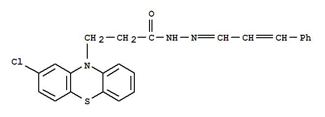 5161-55-7,10H-Phenothiazine-10-propanoicacid, 2-chloro-, 2-(3-phenyl-2-propen-1-ylidene)hydrazide,Phenothiazine-10-propionicacid, 2-chloro-, cinnamylidenehydrazide (7CI,8CI)