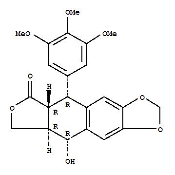 Molecular Structure of 518-28-5 (Podophyllotoxin)