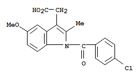Molecular Structure of 53-86-1 (Indometacin)