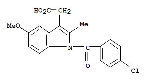 Molecular Structure of 53-86-1 (Indometacin)